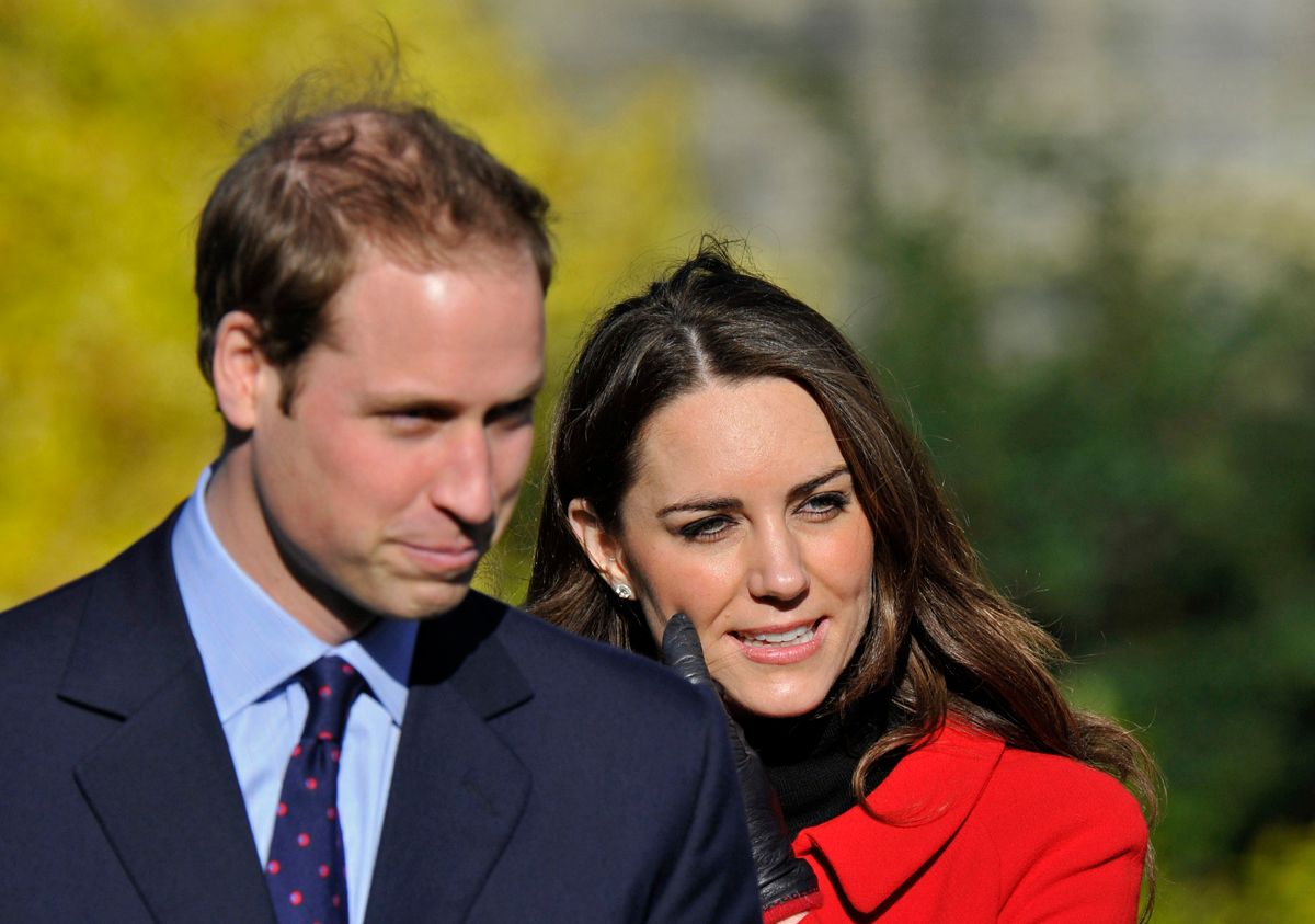 Britain's Prince William and his fiancee Kate Middleton visit St. Andrews University in Fife, Scotland February 25, 2011. The couple made their second official visit together since announcing their engagement in November to St. Andrews University to launch its 600th anniversary celebrations.      REUTERS/Toby Melville    (BRITAIN - Tags: EDUCATION ROYALS)  (© Toby Melville / Reuters)