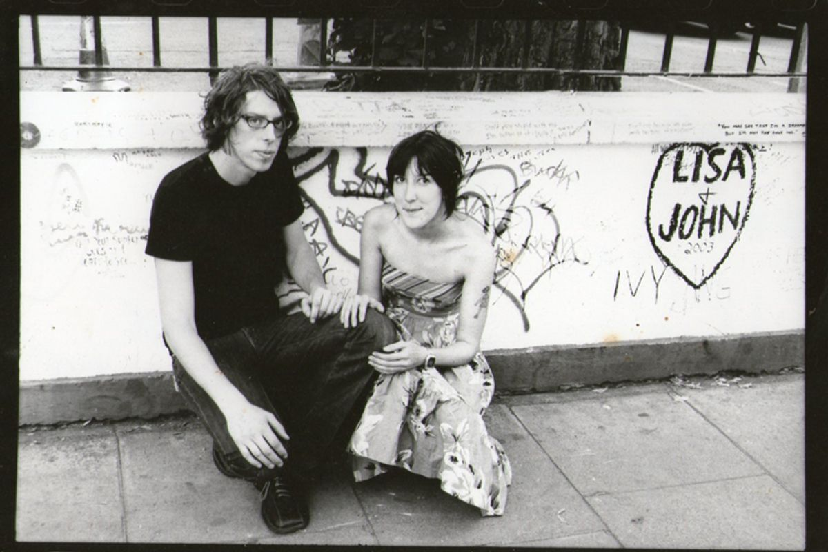 The author with her ex-husband, Patrick Carney of the Black Keys.