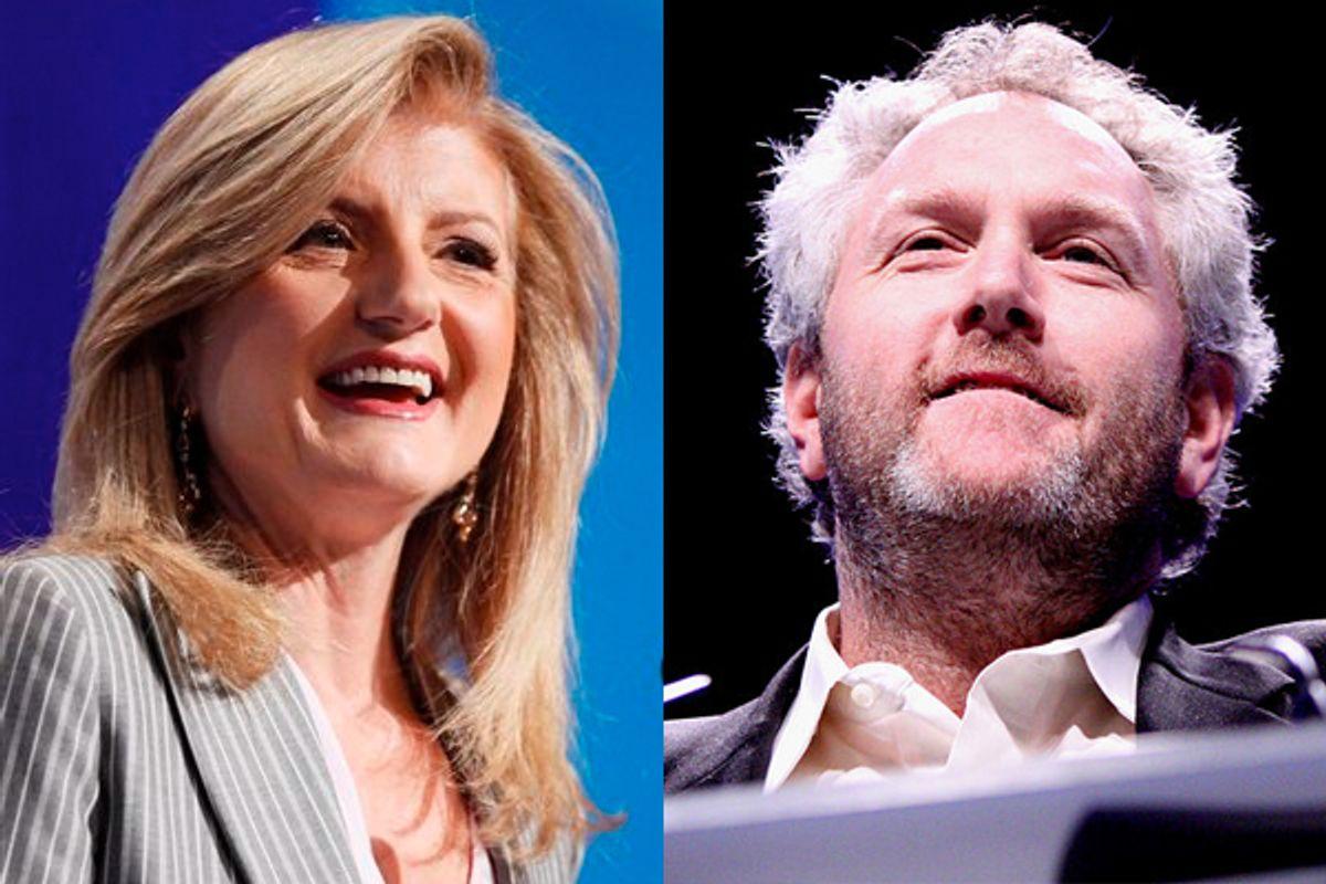 Arianna Huffington and Andrew Breitbart