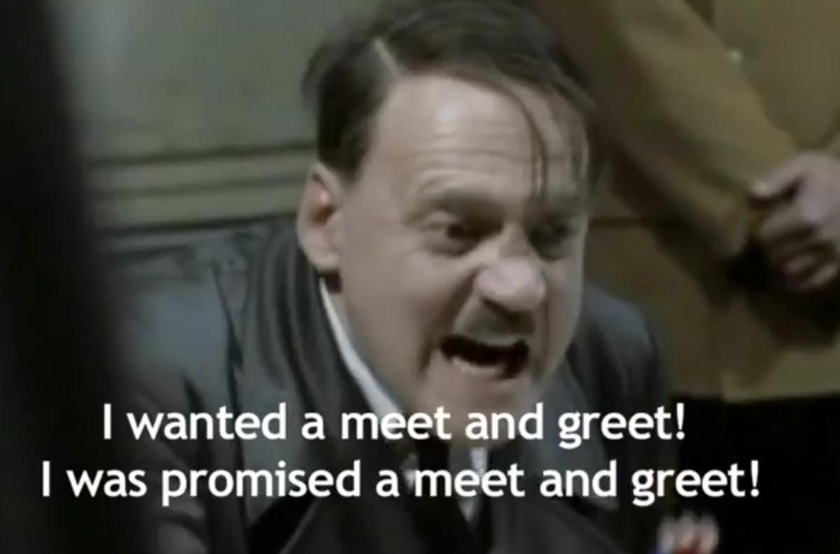 """A still from """"Hitler reacts to Lars Von Trier"""""""