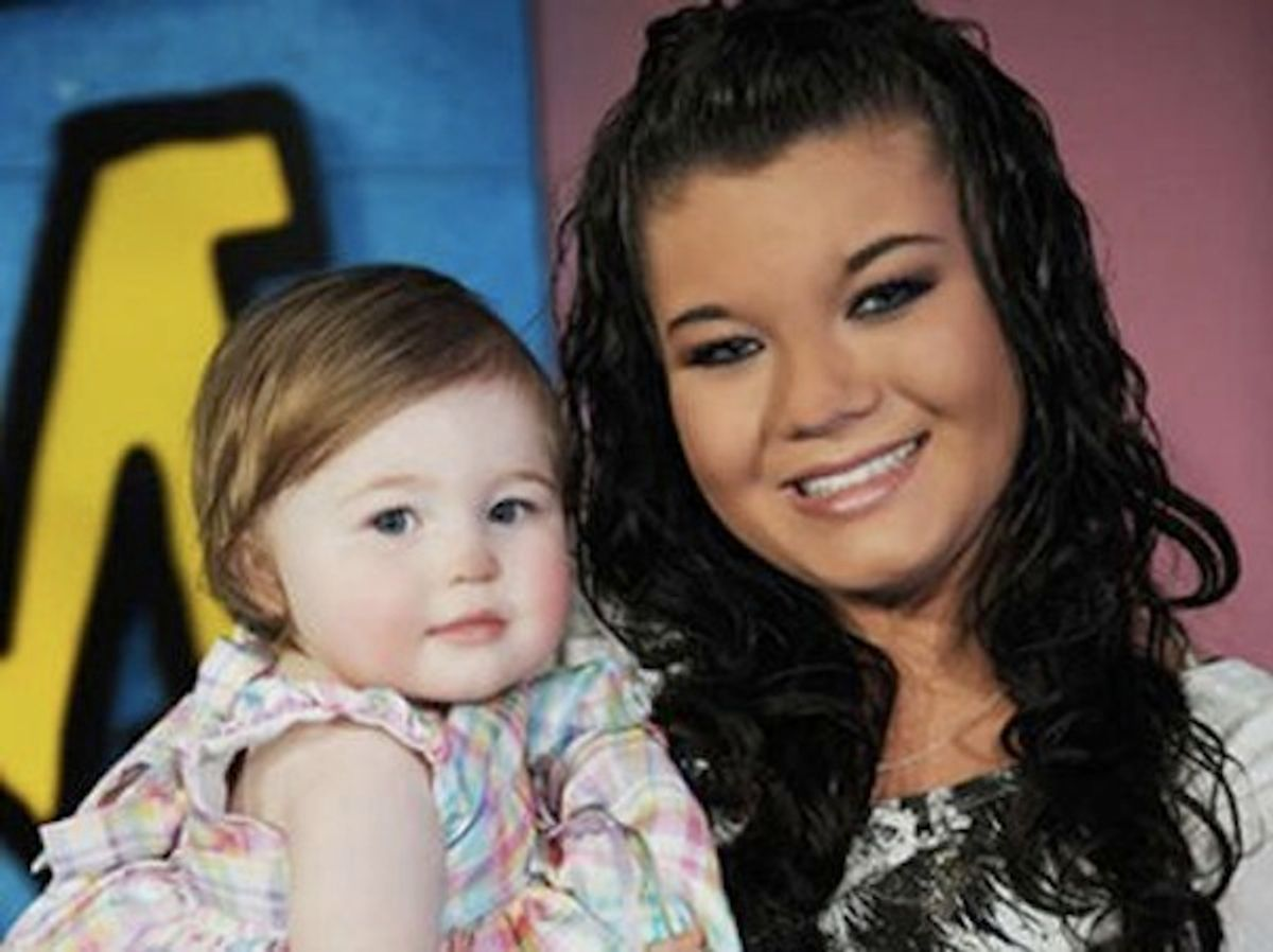 """Amber Portwood and her daughter Leah Leann Shirley from """"Teen Mom."""""""
