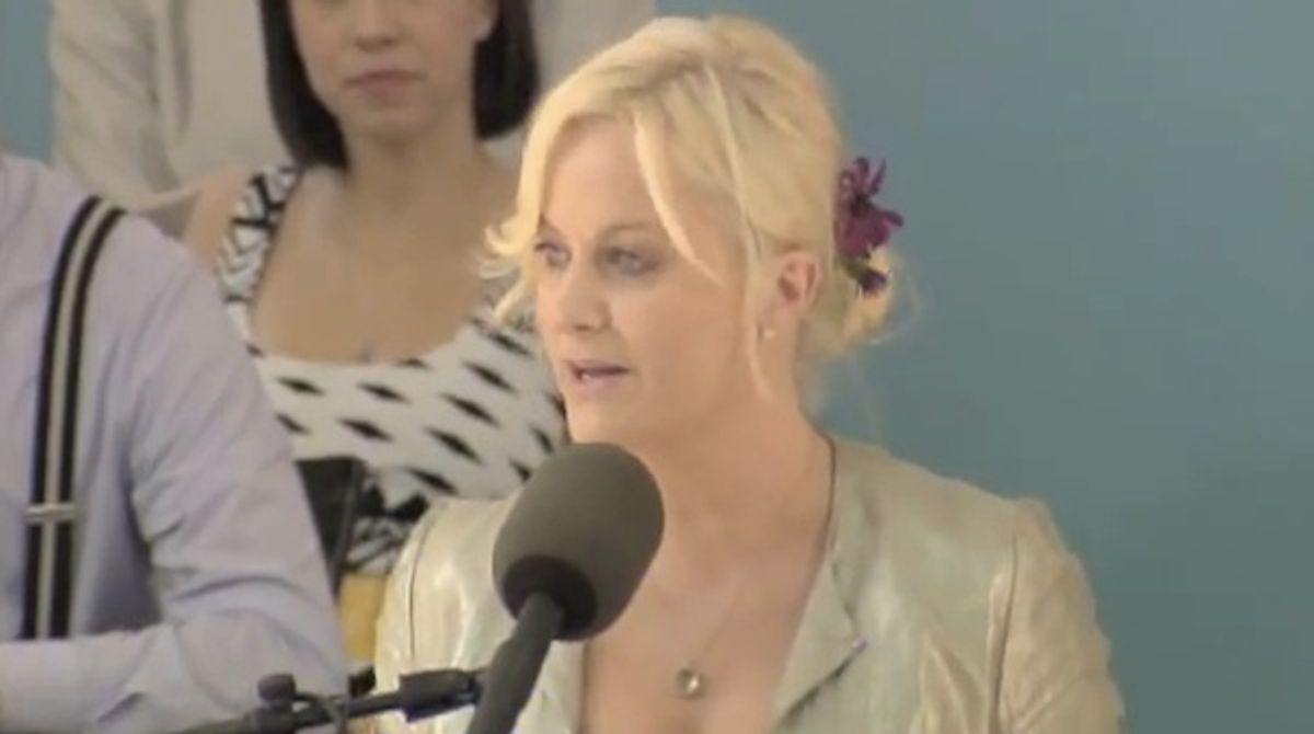 """Amy Poehler at Harvard's commencement, quoting """"Good Will Hunting."""""""