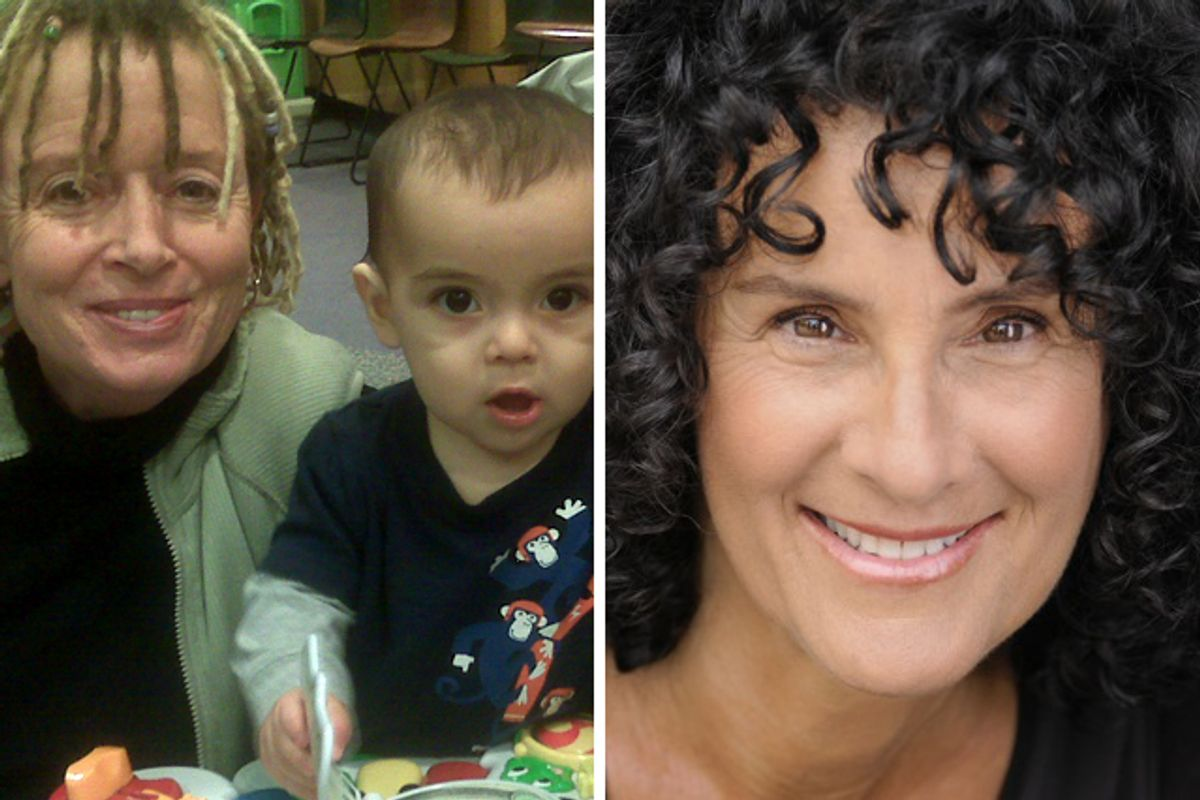 Anne Lamott and her grandson Jax, left (image courtesy of the author), and Meredith Maran (image