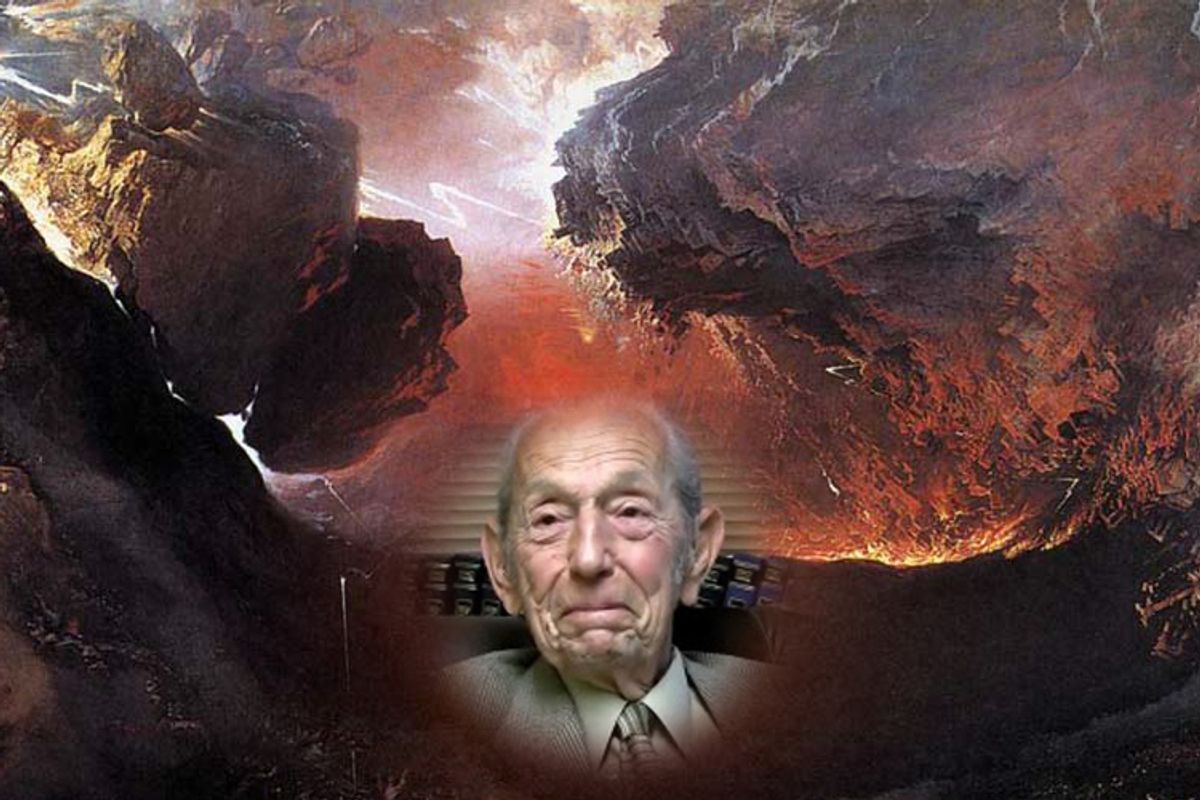 Harold Camping (inset) is the progenitor of the most recent doomsday theory.