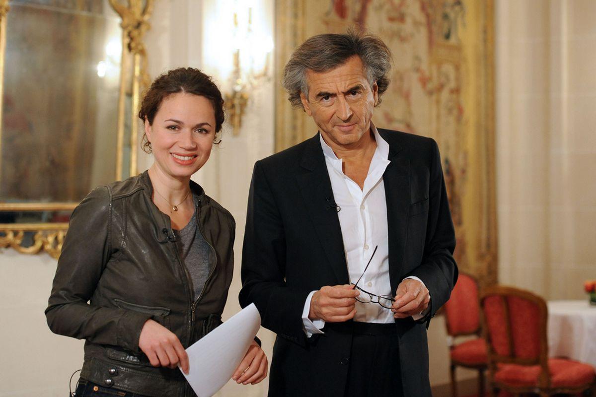 Myriam Encaoua donne carte blanche à Bernard-Henri Levy pour la programmation de documentaires sur LCP - Paris - Hotel Le Bristol - 24/0/2011 (Lionel Guericolas)