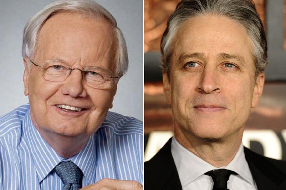 Bill Moyers and Jon Stewart