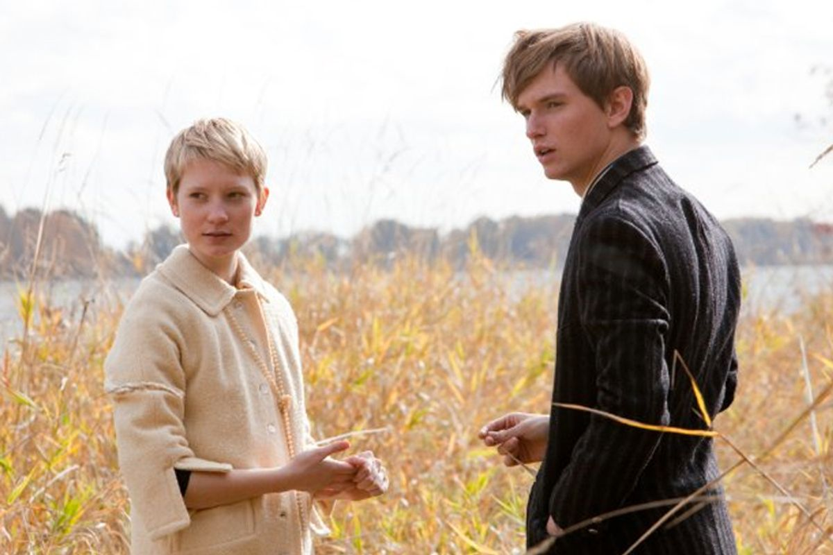 """Mia Wasikowska and Henry Hopper in """"Restless"""""""
