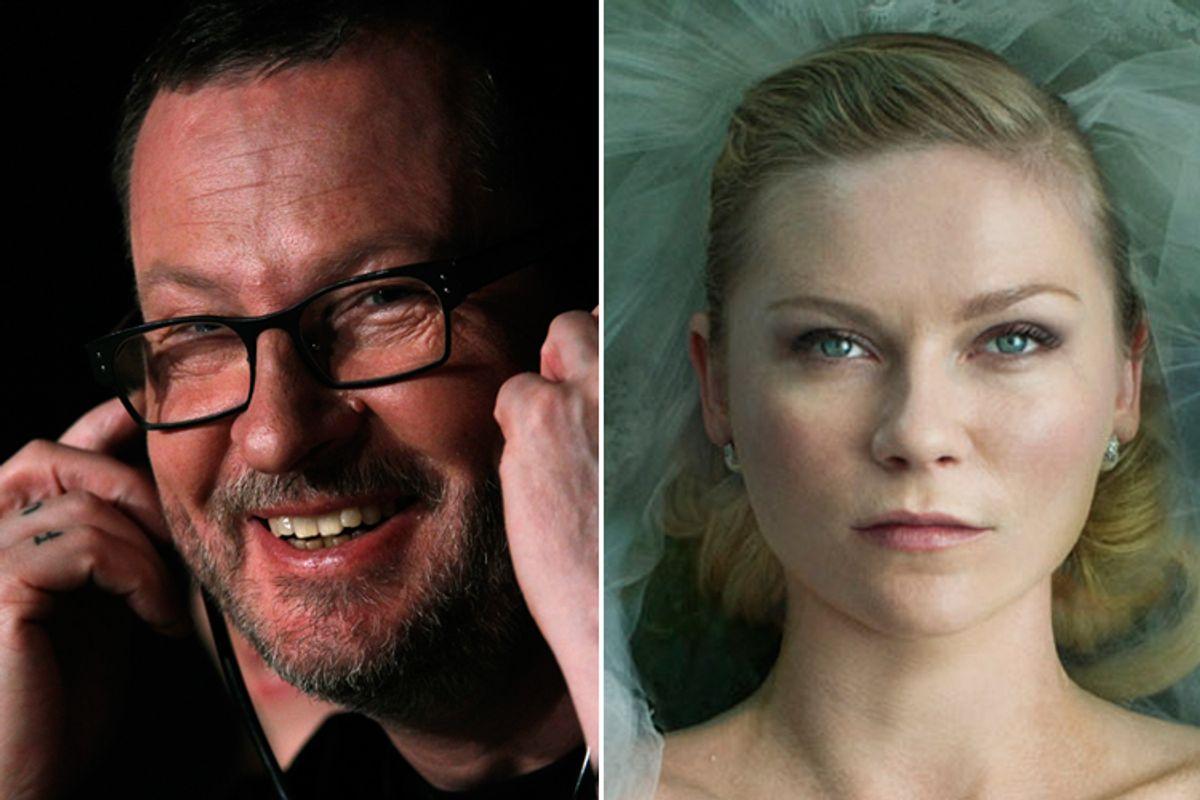 """Lars Von Trier (left) and Kirsten Dunst in """"Melancholia"""""""