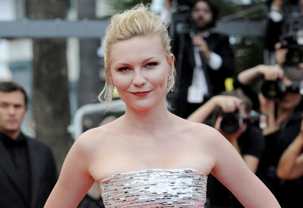 """Kirsten Dunst, winner of the best actress award at the Cannes Film Festival for her performance in """"Melancholia."""""""