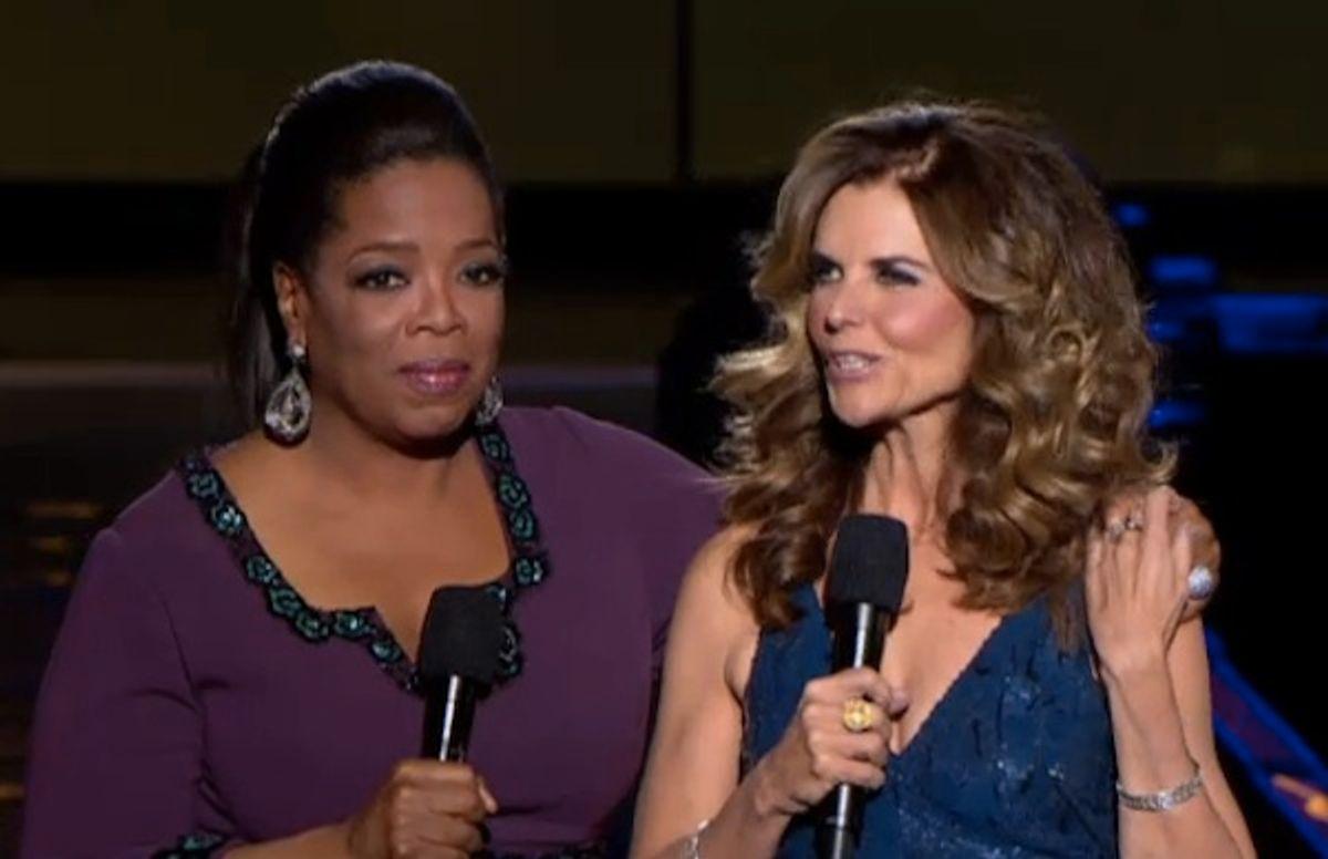 Oprah and Maria Shriver.
