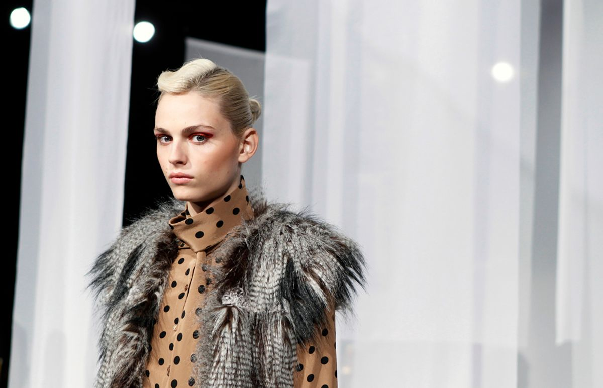 Male model Andrej Pejic takes his place before a presentation of the Yoana Baraschi Fall/Winter 2011 collection during New York Fashion Week February 13, 2011.  REUTERS/Lucas Jackson (UNITED STATES - Tags: FASHION SOCIETY) (© Lucas Jackson / Reuters)