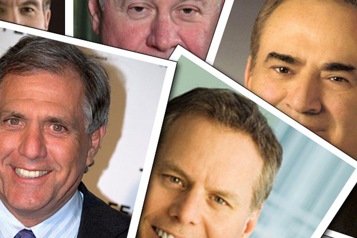 Left to right, clockwise:  Philippe Dauman, Richard Adkerson, Ray Irani, David Zaslav, Leslie Moonves