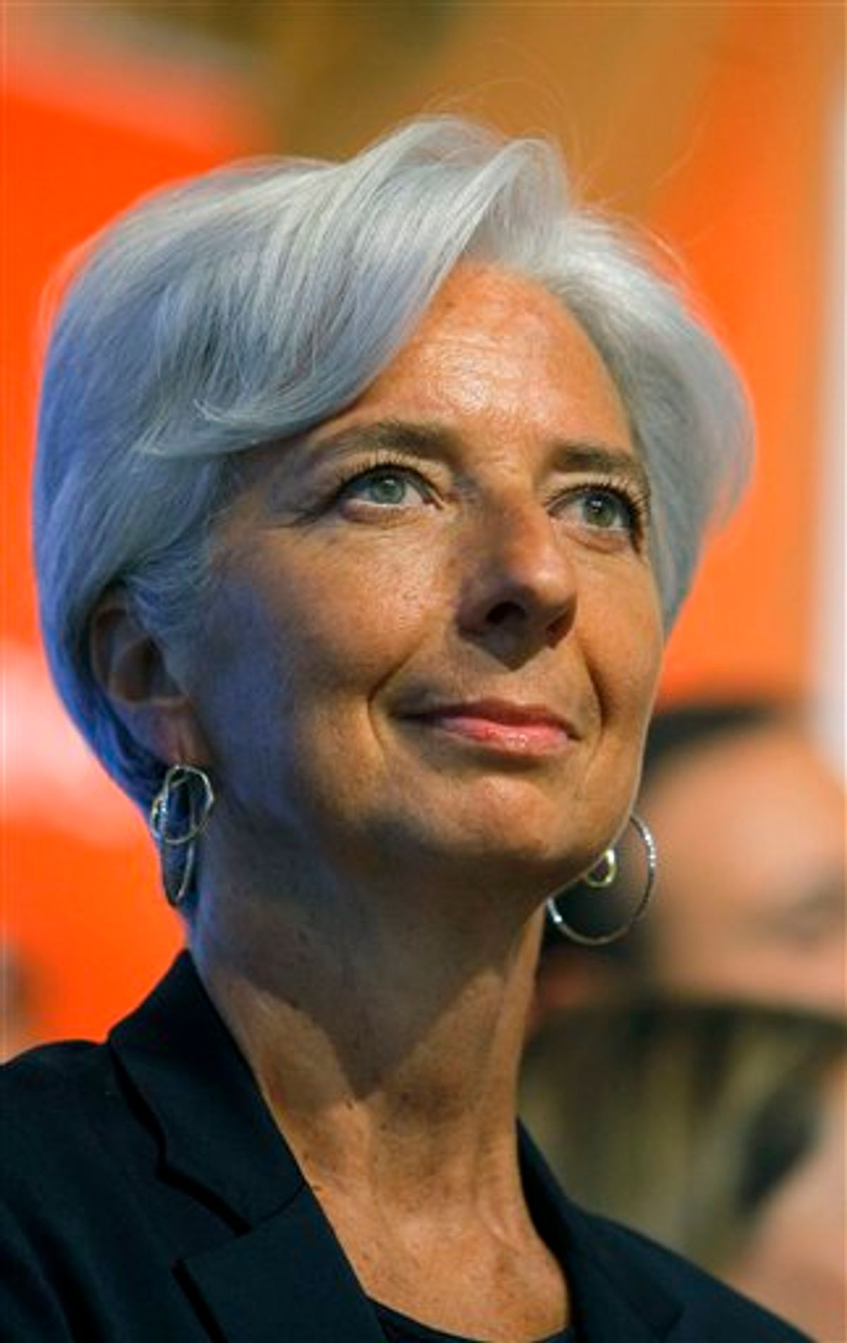France's Finance and Economy Minister Christine Lagarde is seen during the ringing of the opening bell at the Paris Euronext opening day Tuesday, May 24, 2011. Momentum grew for  Lagarde's potential candidacy to the top job at the IMF, with the Netherlands becoming the latest European government to offer its support. The Frenchwoman, however, kept silent about whether she even wants the job. (AP Photo/Jacques Brinon) (AP)