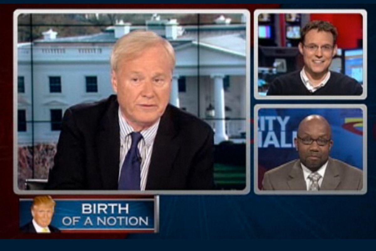 """Chris Matthews, Steve Kornacki and Errol Lewis of NY1 on """"Hardball"""""""