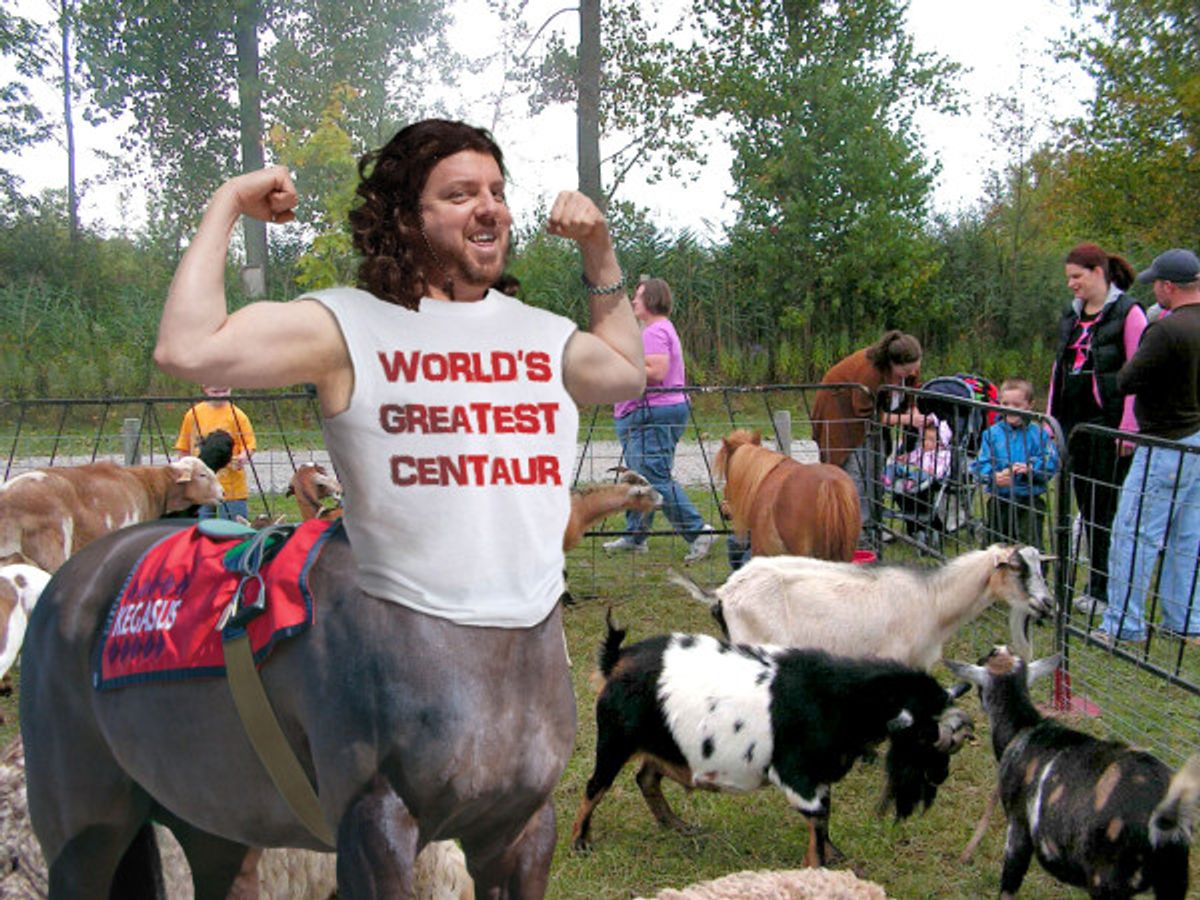 Is Kegasaus the world's greatest centaur? T-shirt says yes.
