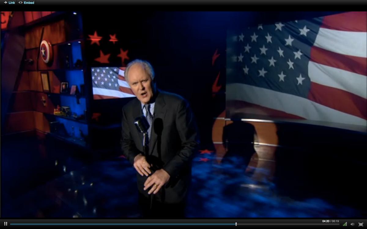 "Actor John Lithgow on Thursday night's ""Colbert Report."""