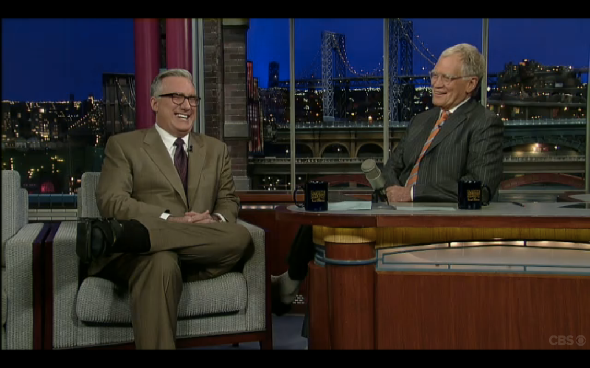 """Keith Olbermann on """"The Late Show"""" with David Letterman"""