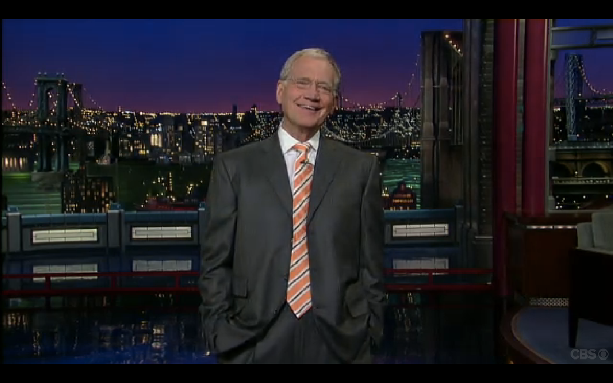 """David Letterman on the """"Late Show."""""""