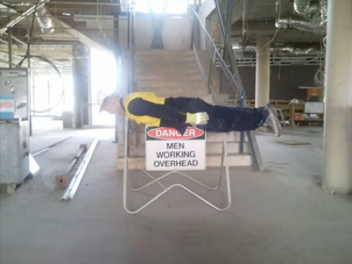 An example of planking.
