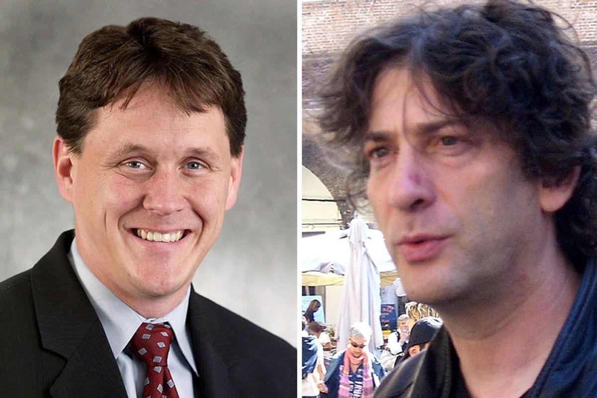 Rep. Matt Dean of Minnesota and Neil Gaiman