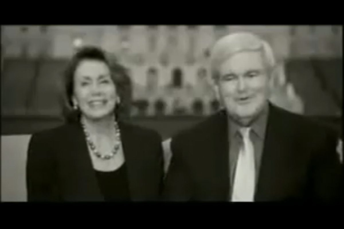 Nancy Pelosi and Newt Gingrich in a 2008 climate change ad.