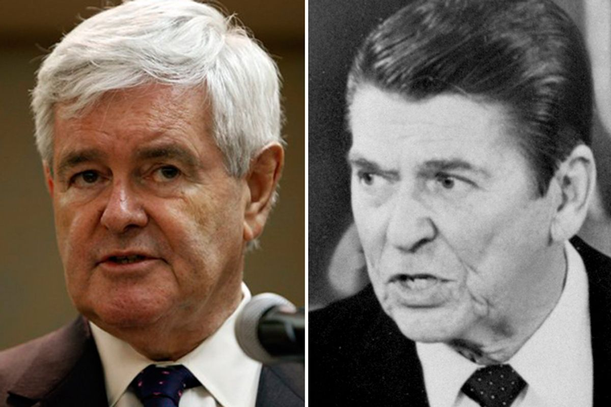 Newt Gingrich and Ronald Reagan