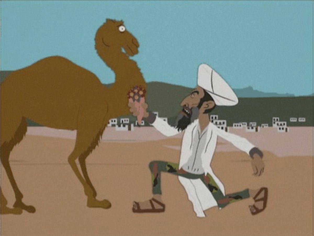"""Osama woos a camel on """"South Park."""""""