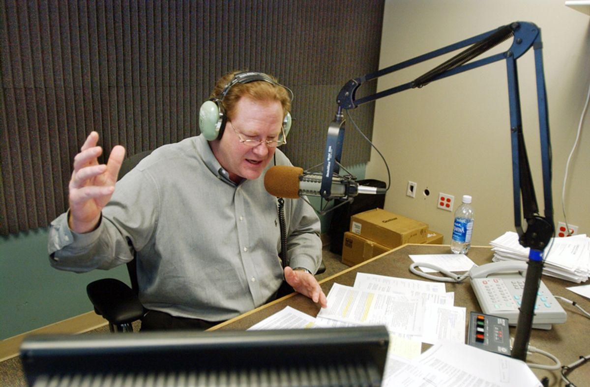 Radio talk show host Ed Schultz