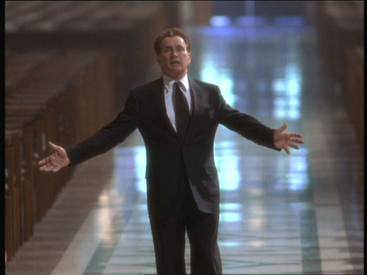 """President Bartlet (Martin Sheen) on """"The West Wing."""""""