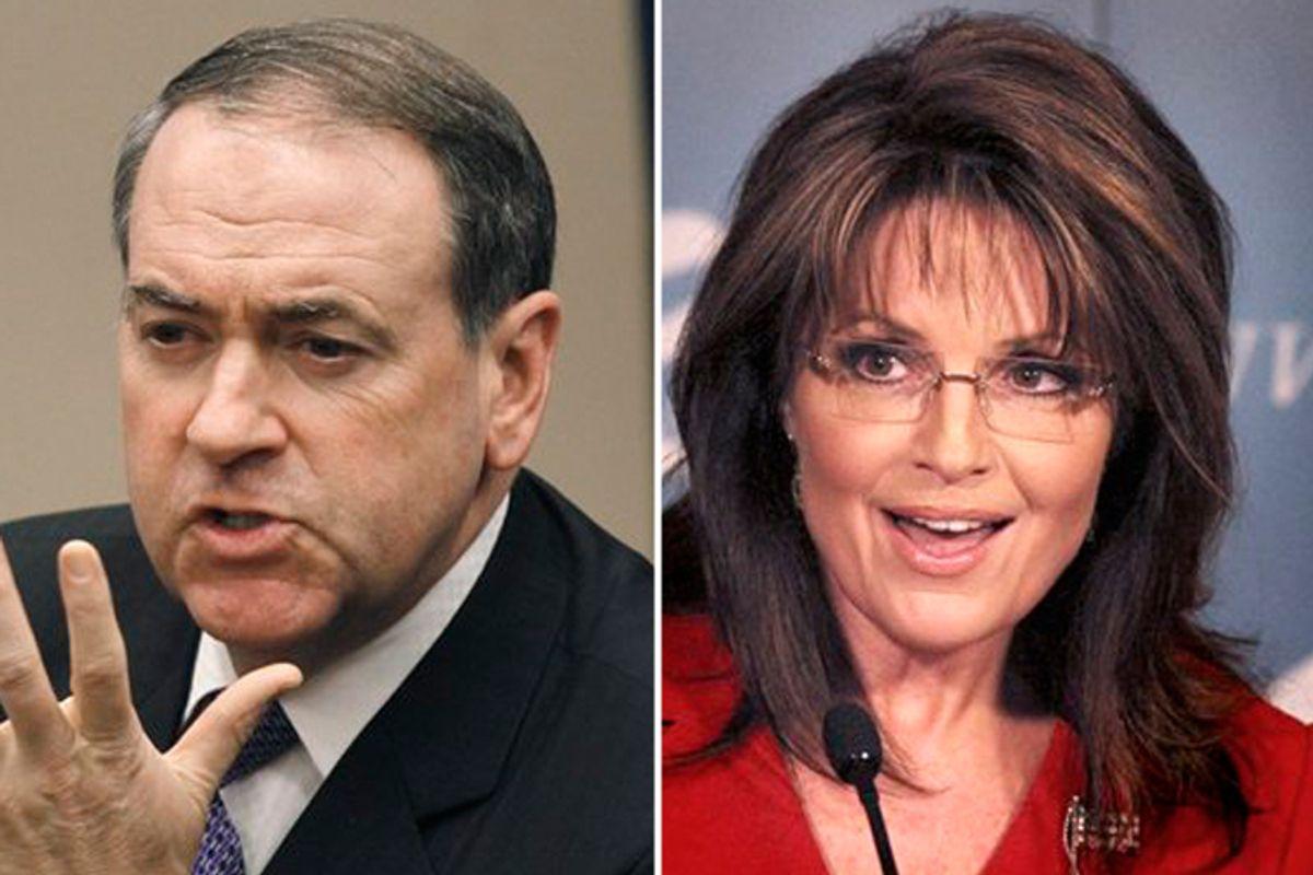 Mike Huckabee and Sarah Palin