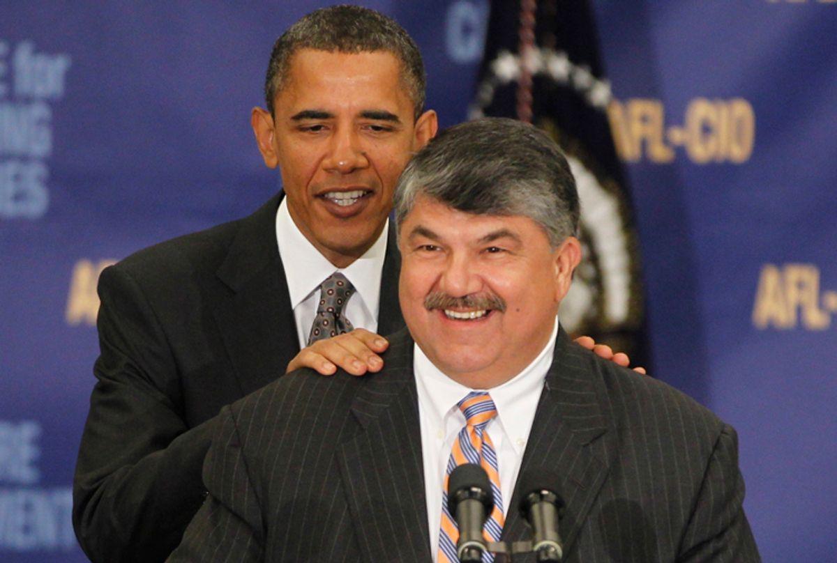 President Barack Obama and AFL-CIO President Richard Trumka