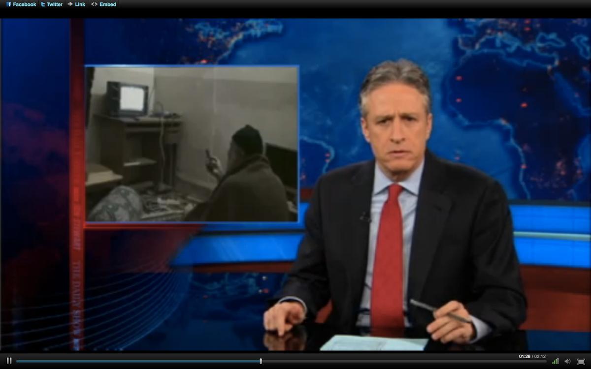 "Jon Stewart on Monday night's ""Daily Show."""