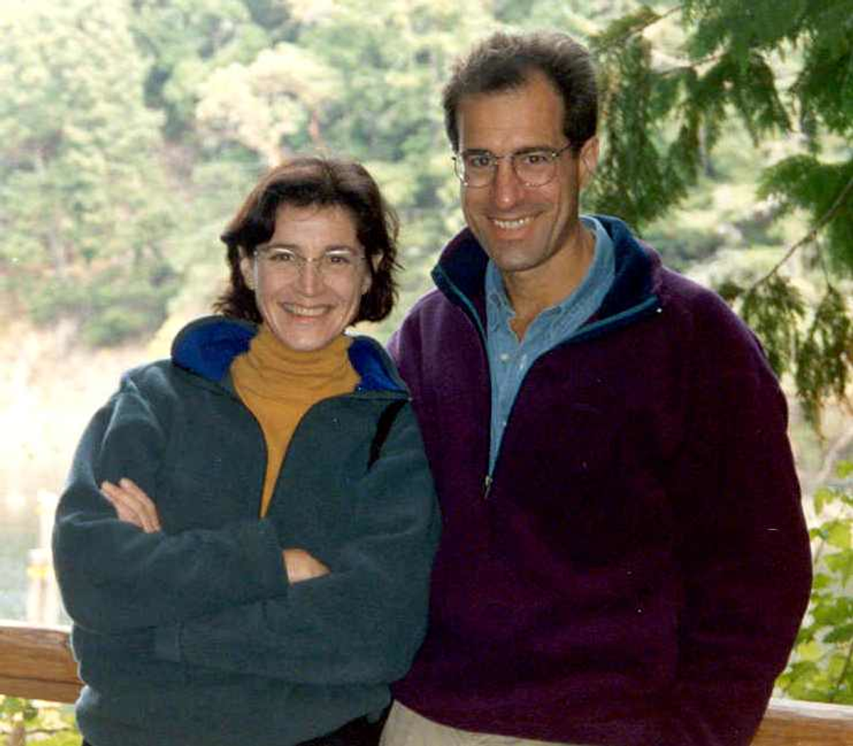 The author and her husband in 1997