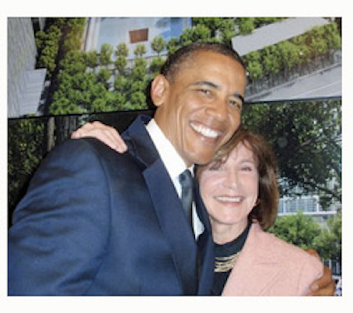 The author with President Obama