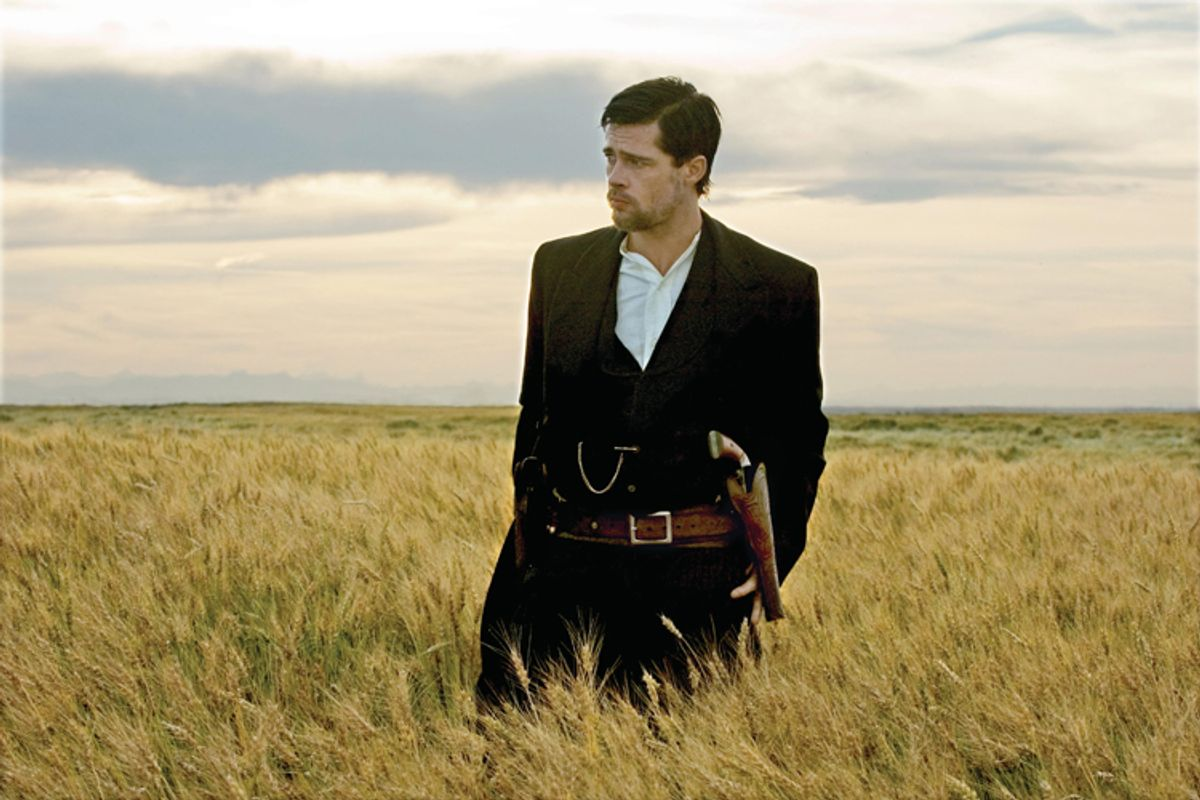 Brad Pitt stars as Jesse James in Warner Bros. Pictures? ?The Assassination of Jesse James by the Coward Robert Ford.? (Kimberly French)