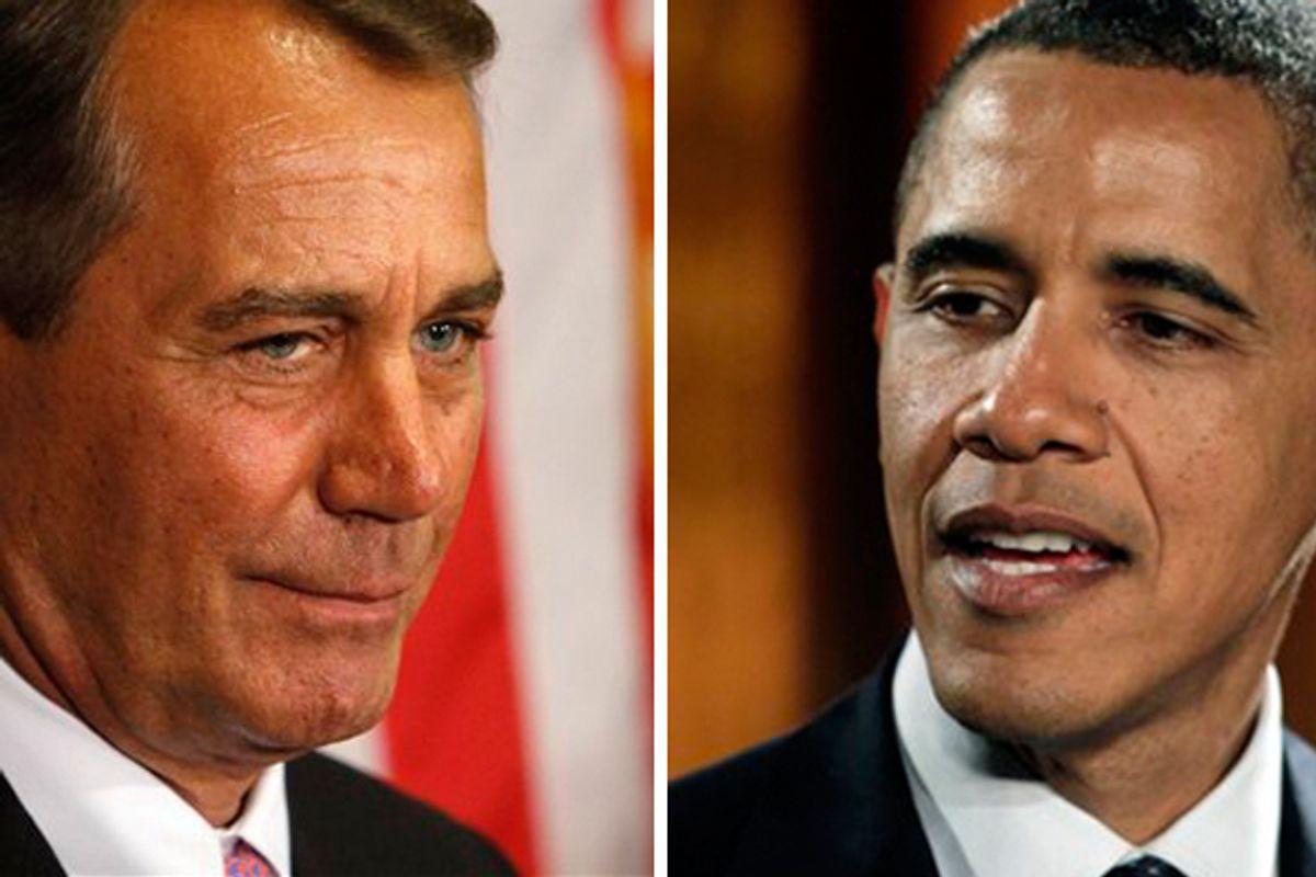 Speaker of the House John Boehner; President Barack Obama