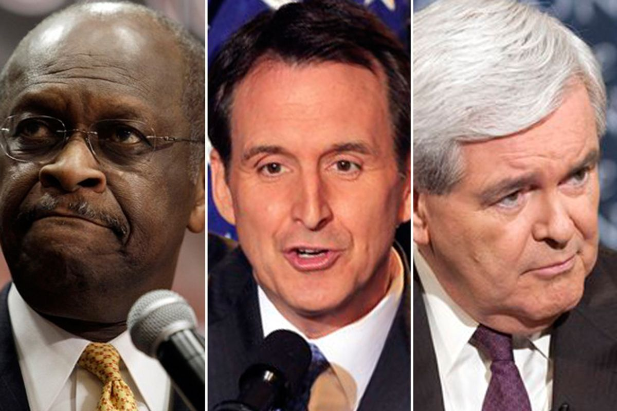 Herman Cain, Tim Pawlenty and Newt Gingrich