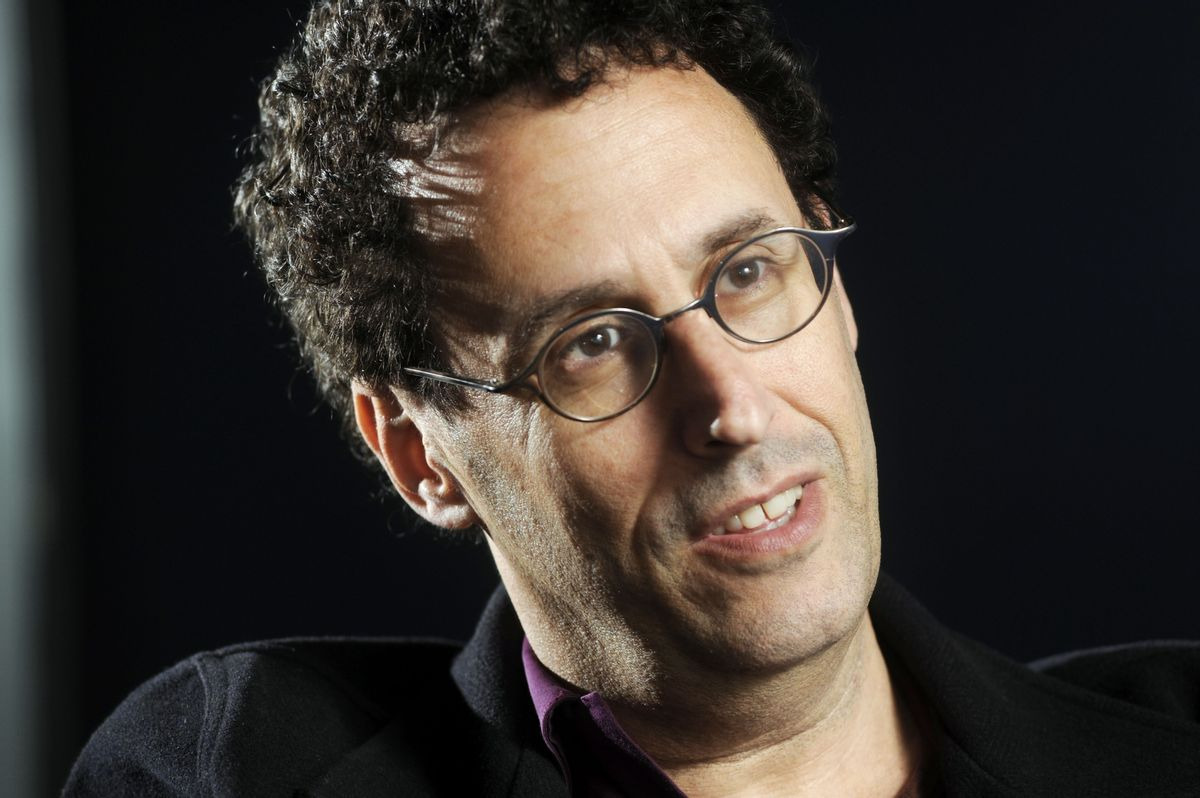 FILE - In this April 30, 2009 file photo, Tony Kushner is shown during a break from rehearsal of his new play at the Guthrie Theatre in Minneapolis, Minn. (AP Photo/Craig Lassig, file)  (Associated Press)