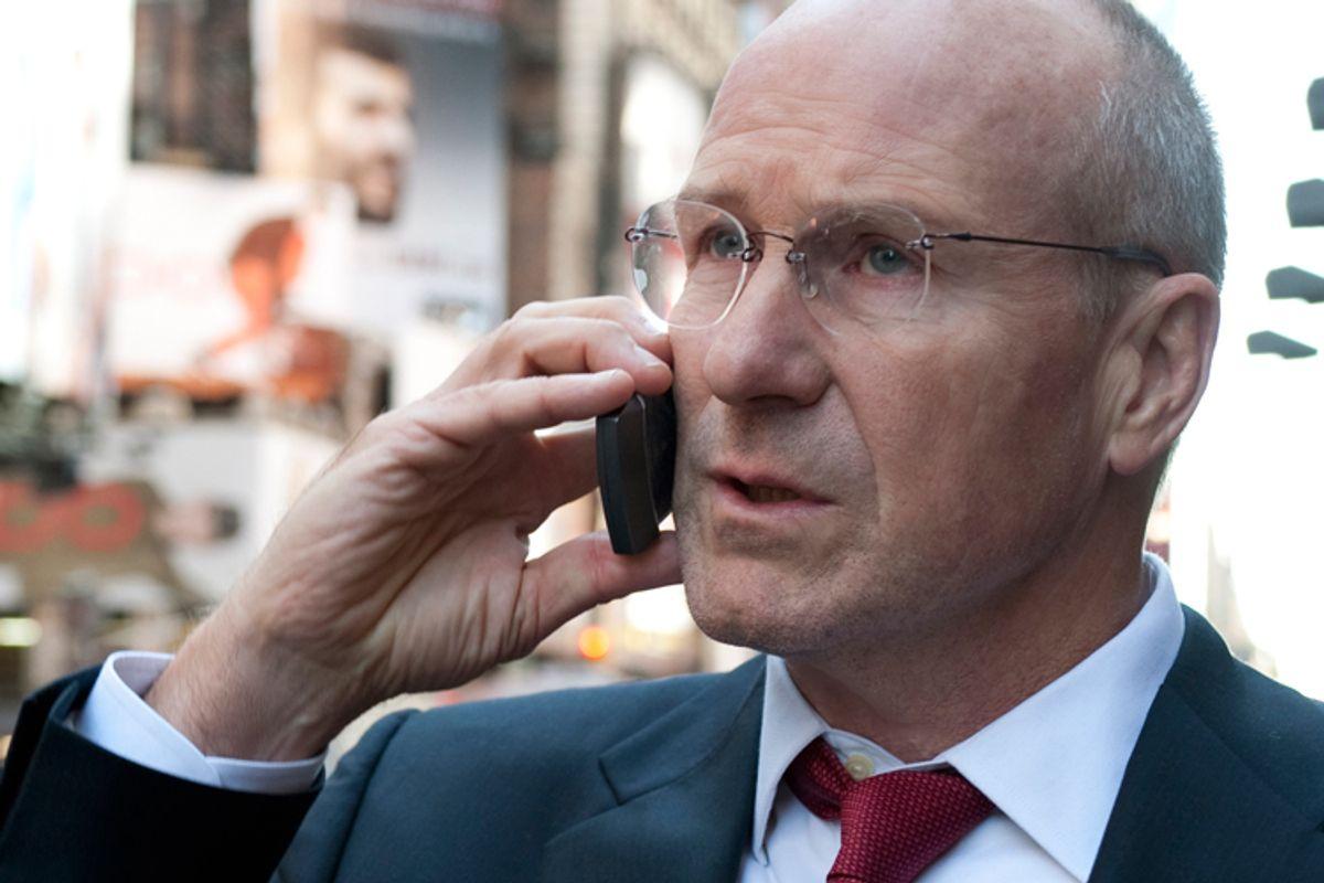 "Make the call! William Hurt plays former Treasury Secretary Henry ""Hank"" Paulson in HBO's ""Too Big to Fail."""