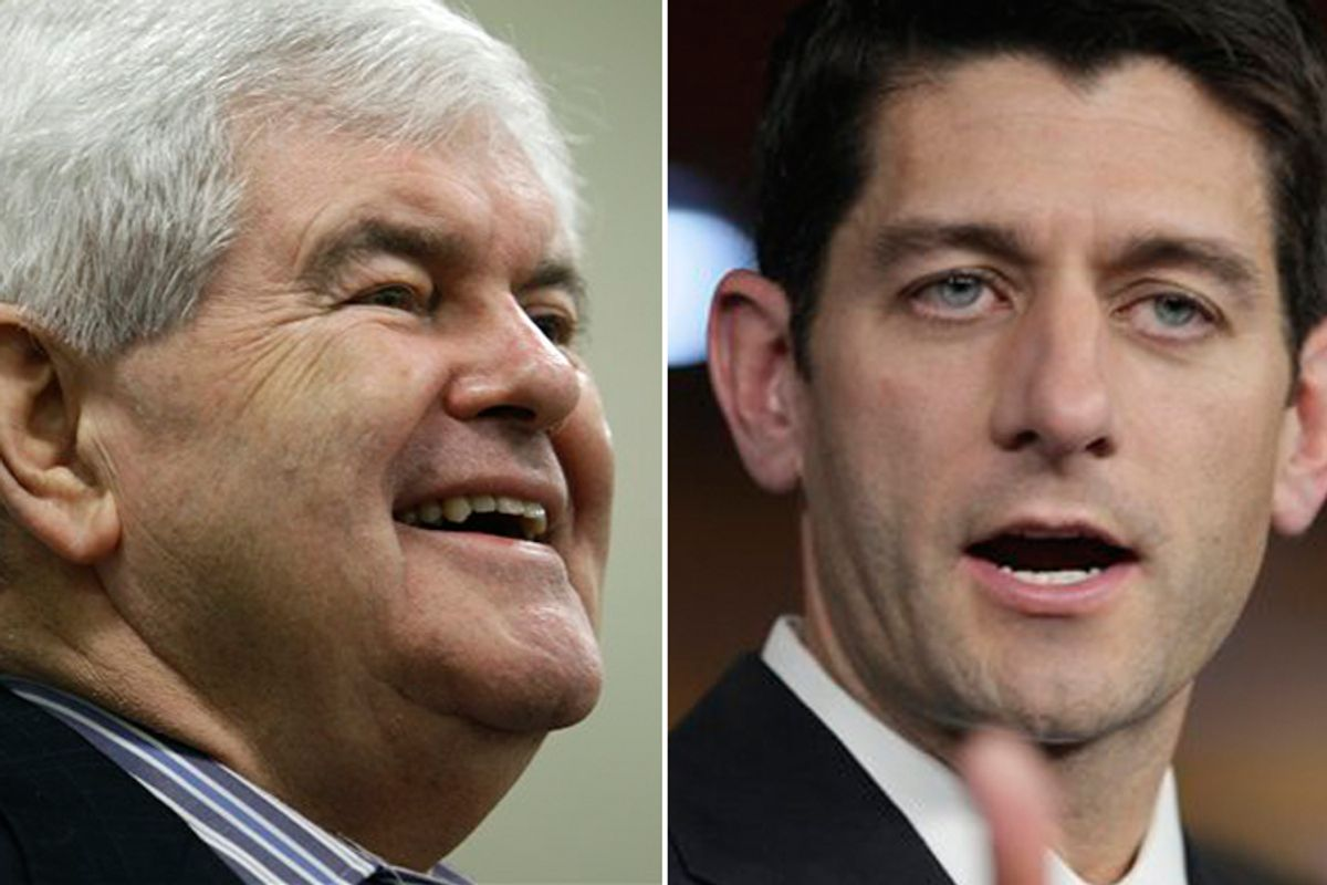Newt Gingrich and Paul Ryan