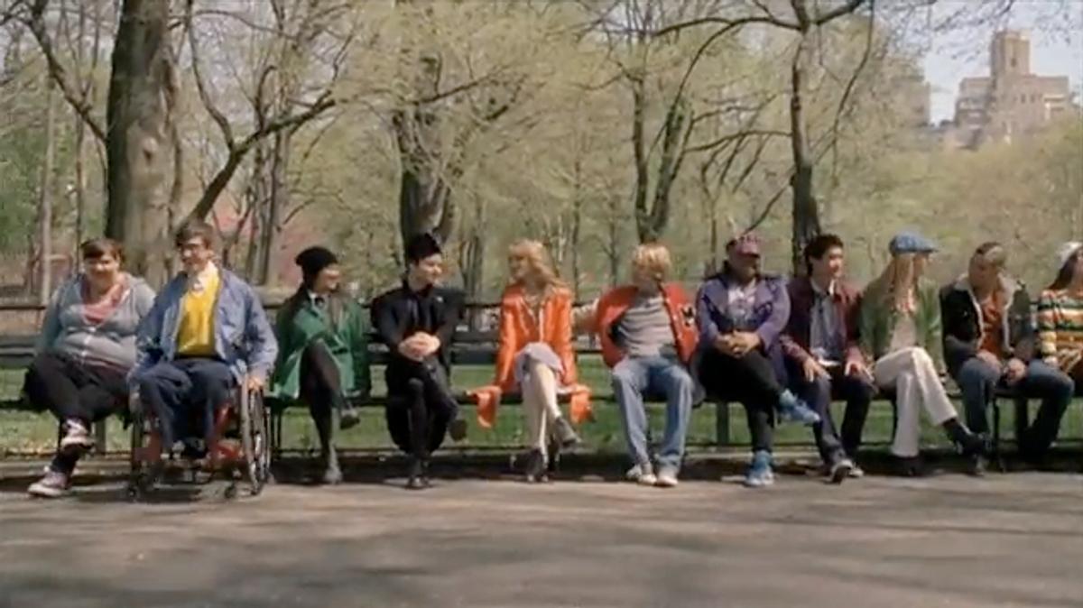 """The cast of """"Glee"""" in last night's season finale."""
