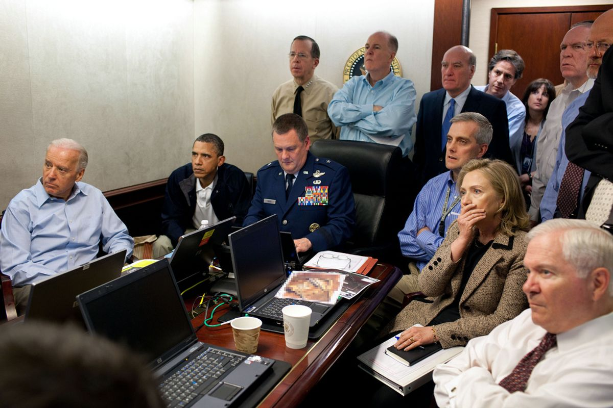 The iconic shot inside the Situation Room, May 1, 2011.