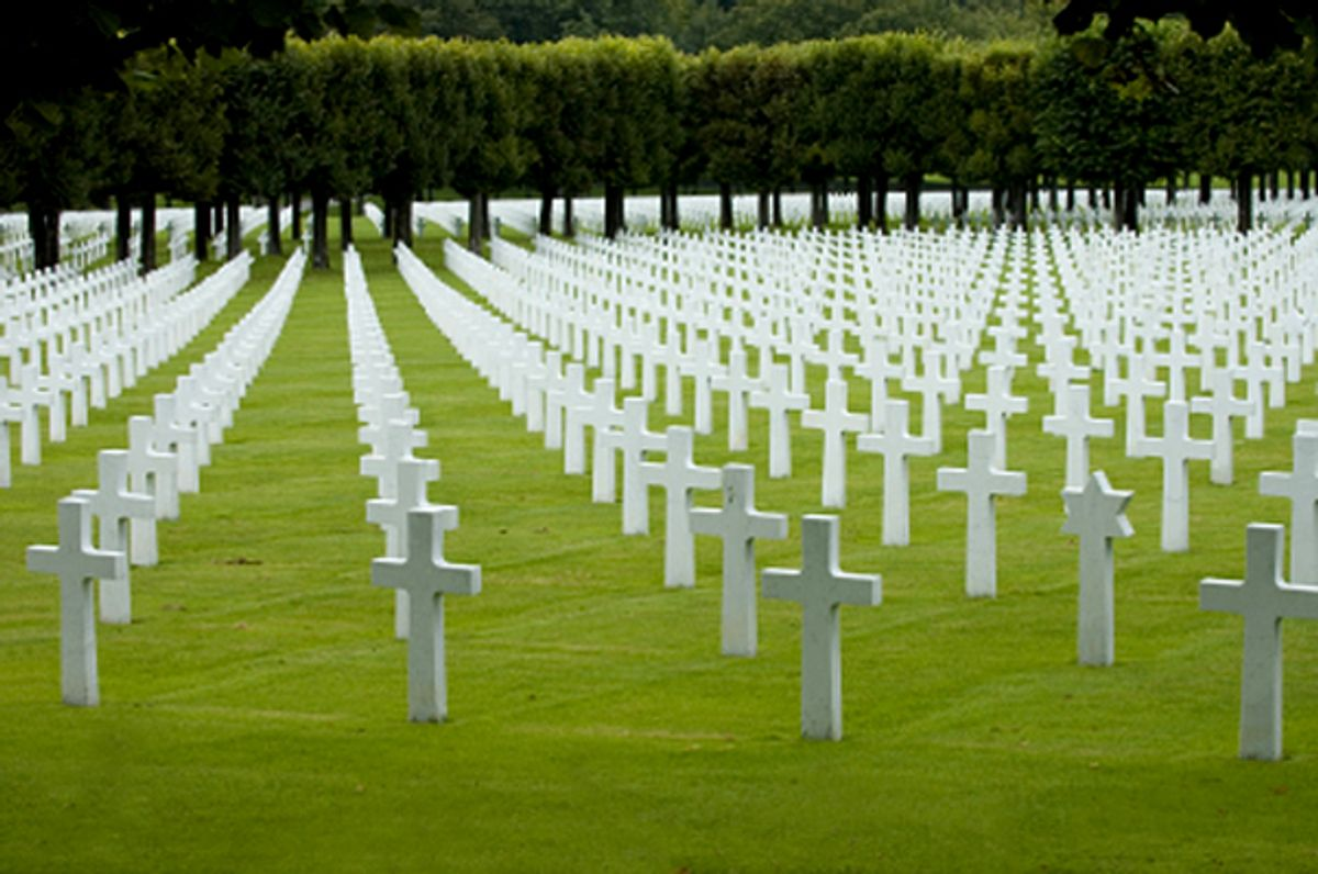 American WW1 cemetery near Verdun, France.