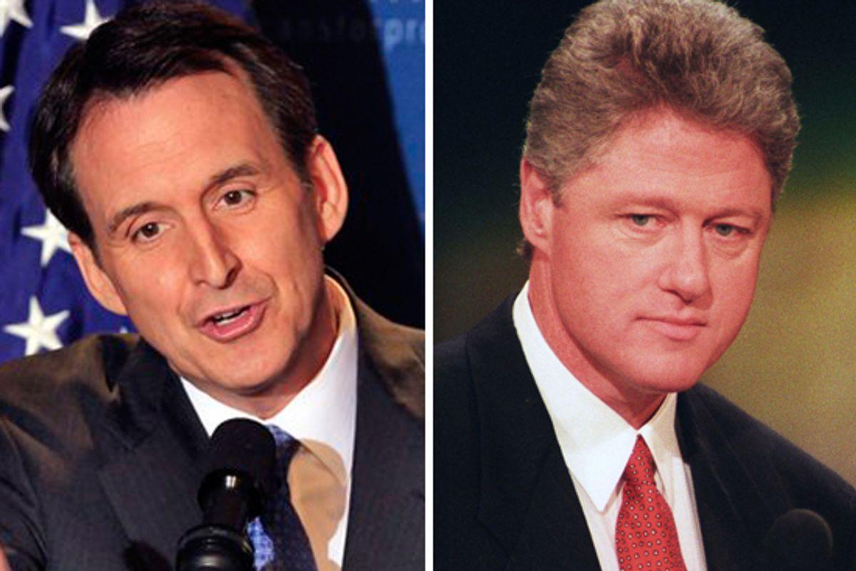 Tim Pawlenty and former president Bill Clinton