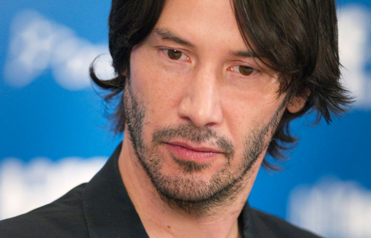 """Actor Keanu Reeves attends a news conference to promote the film """"Henry's Crime"""" during the 35th Toronto International Film Festival, September 14, 2010.  REUTERS/Fred Thornhill  (CANADA - Tags: ENTERTAINMENT)   (© Fred Thornhill / Reuters)"""