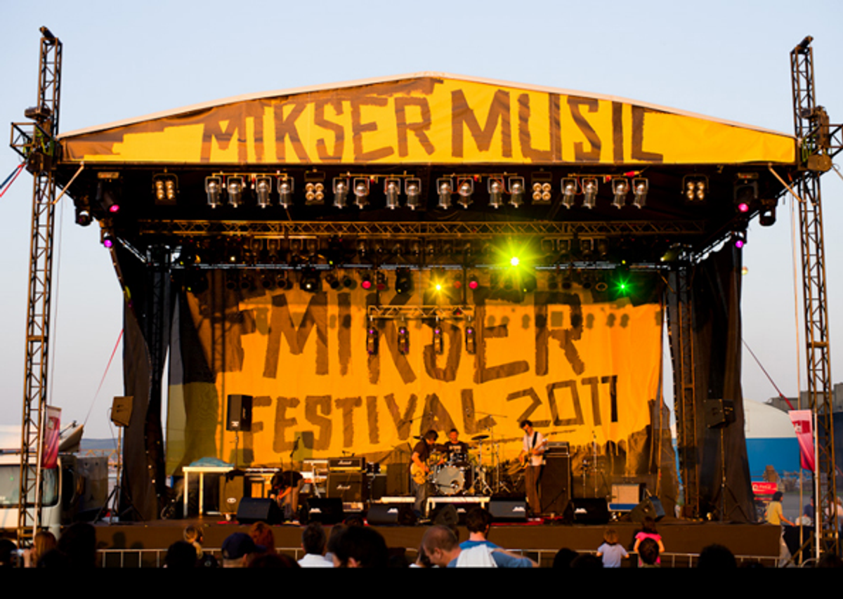 A band performs at the Mikser Festival's main stage