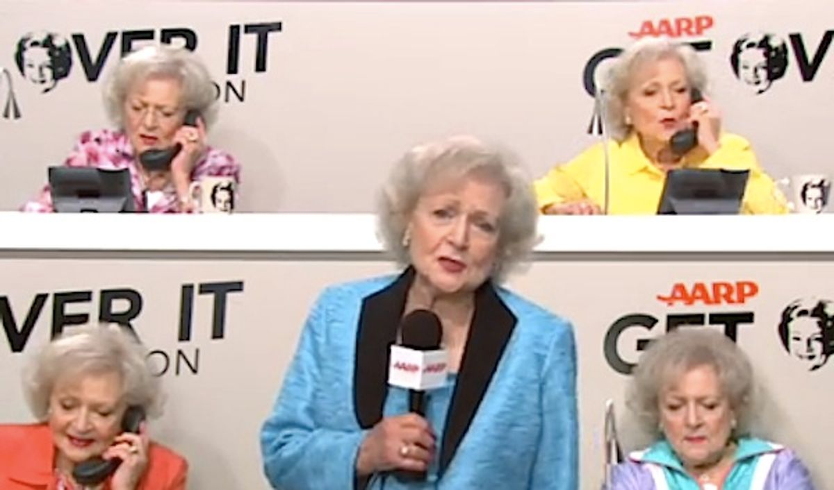 Betty White for the AARP