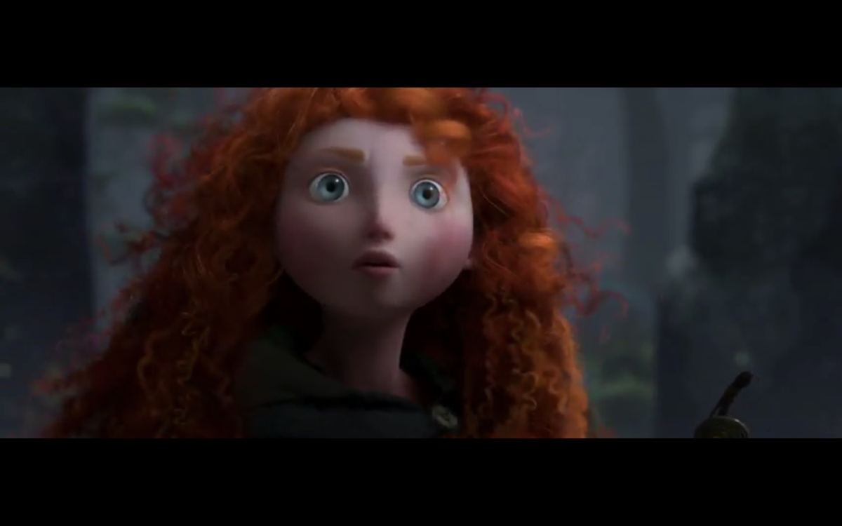 """The heroine of Pixar's forthcoming film, """"Brave."""""""