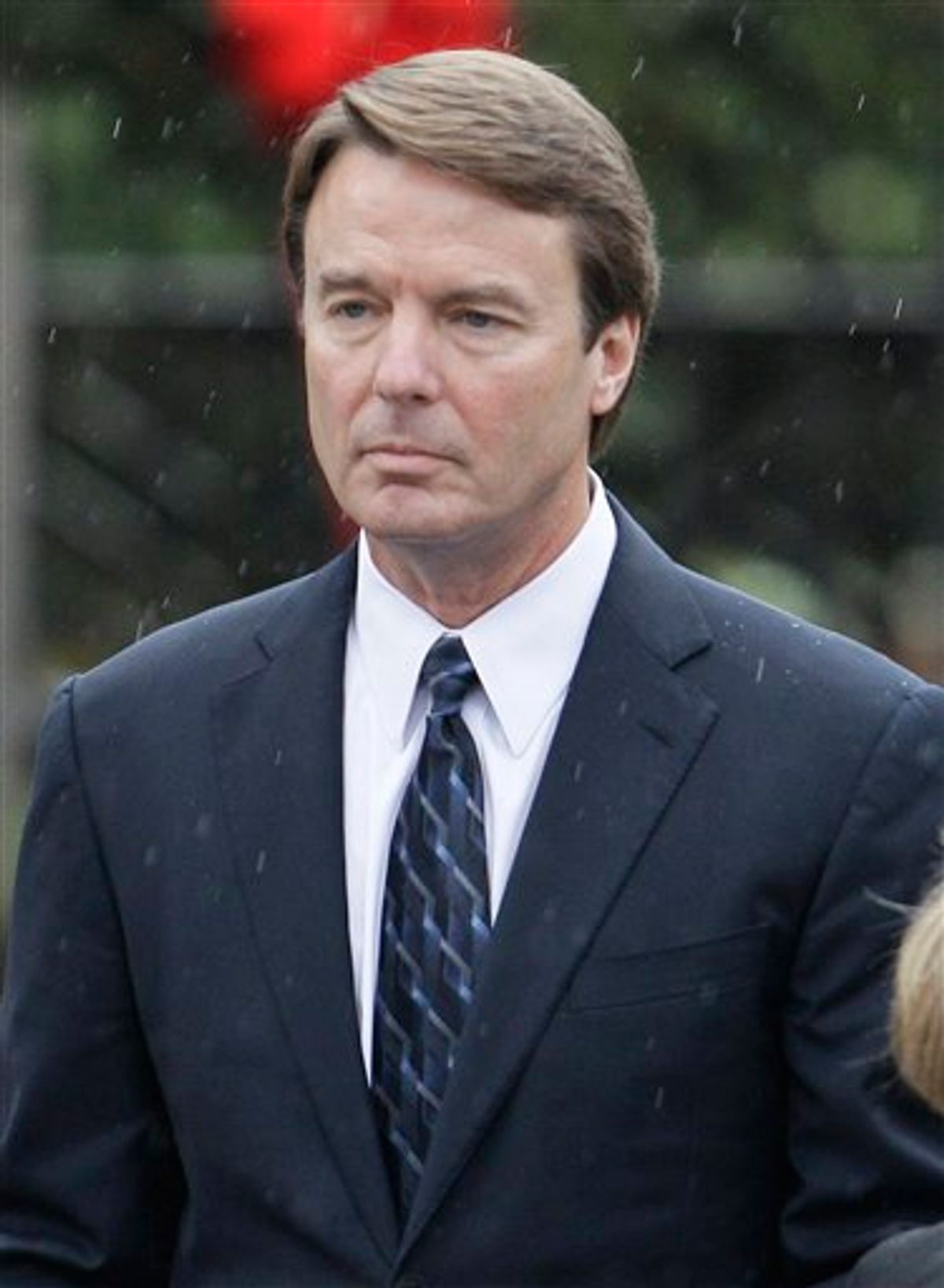 FILE - In this Dec. 11, 2010 file photo, former Democratic presidential candidate John Edwards is seen in Raleigh, N.C. Edwards and federal prosecutors are arguing over whether the money used to cover up his extramarital affair was a campaign contribution or just a gift from his old friends. An indictment of the 2004 Democratic vice presidential nominee appears imminent, but people on both sides still hold out hope for a last-minute deal for a guilty plea to a negotiated charge.  (AP Photo/Gerry Broome, File) (AP)