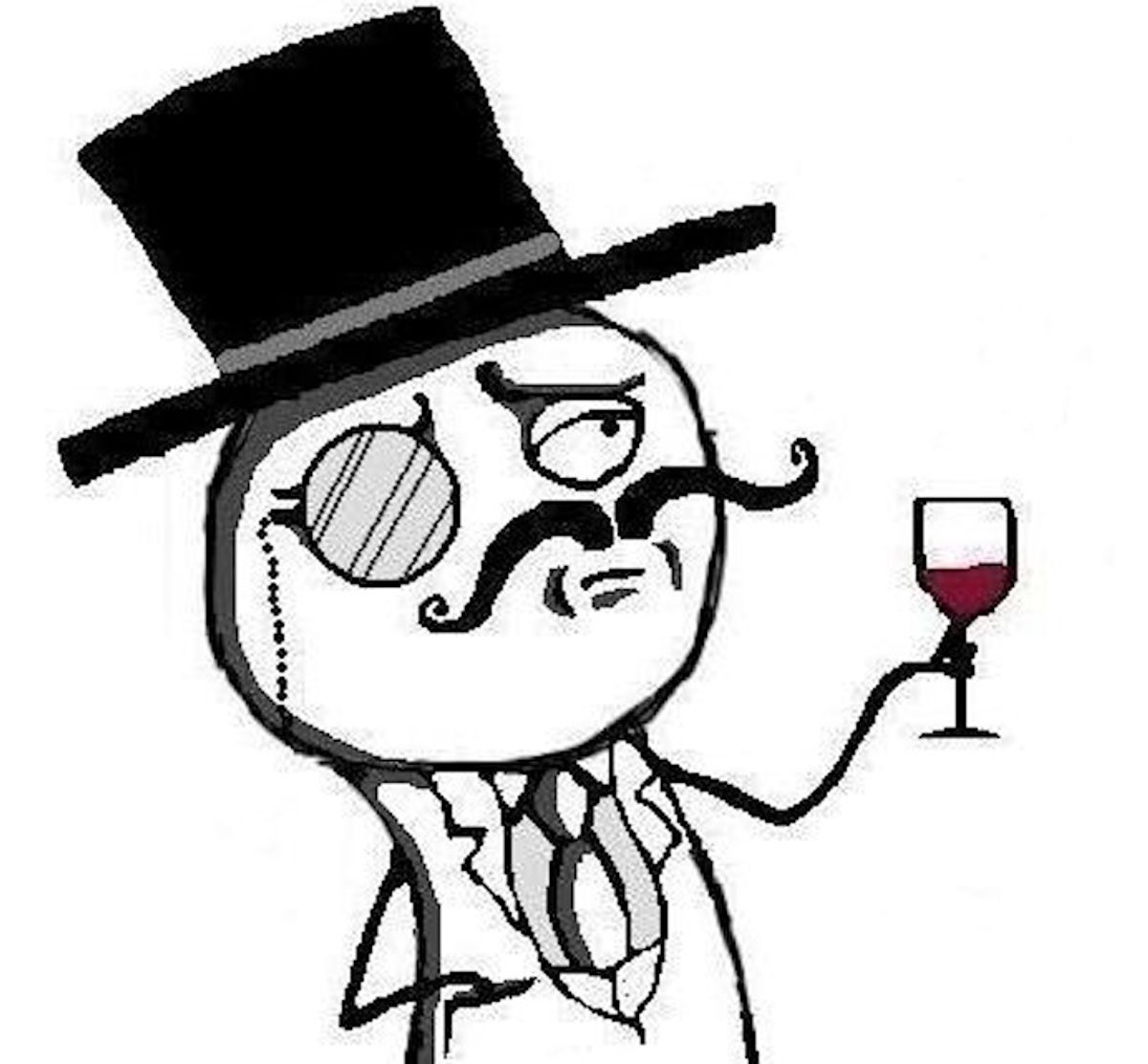The LulzSec symbol, used on their extensively followed Twitter feed